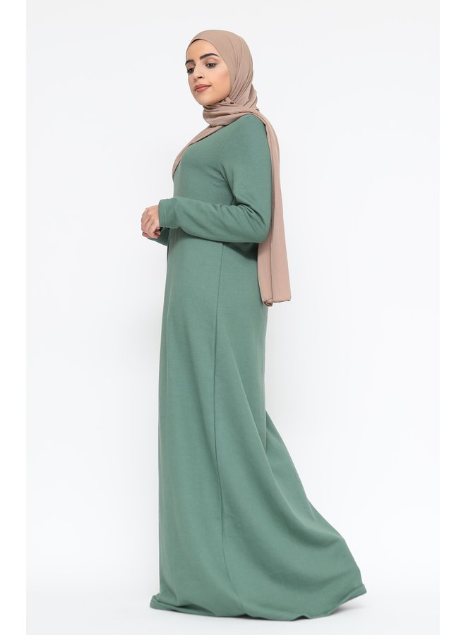 Winter abaya - green