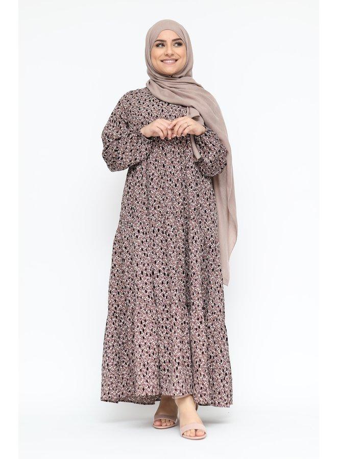 Dress with flowerprint - lila