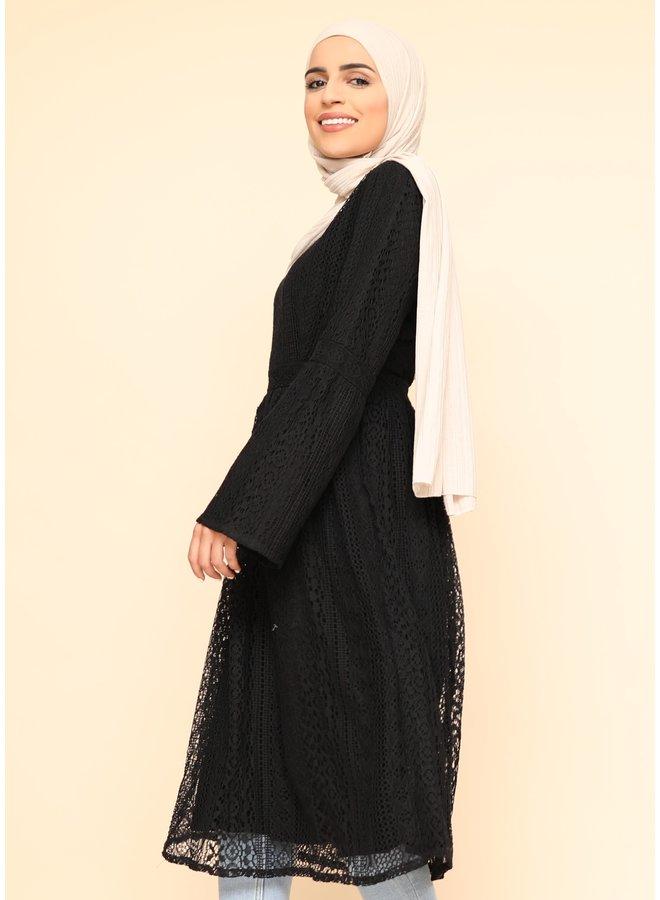 Lace tunic -black