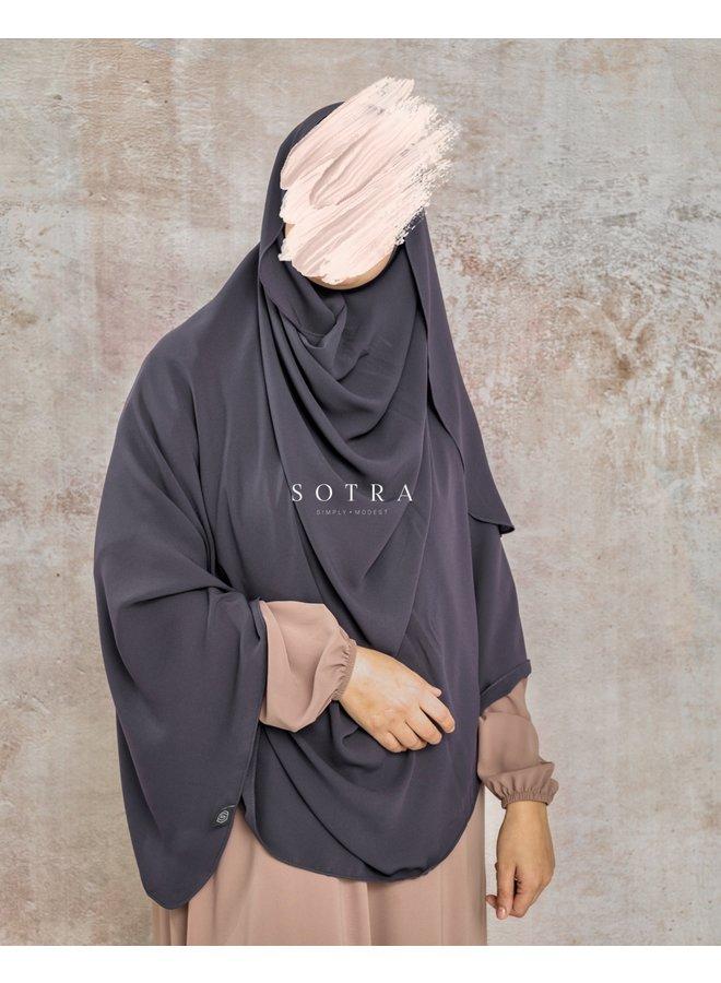 XXL Saudi Sjaal Oystergrey