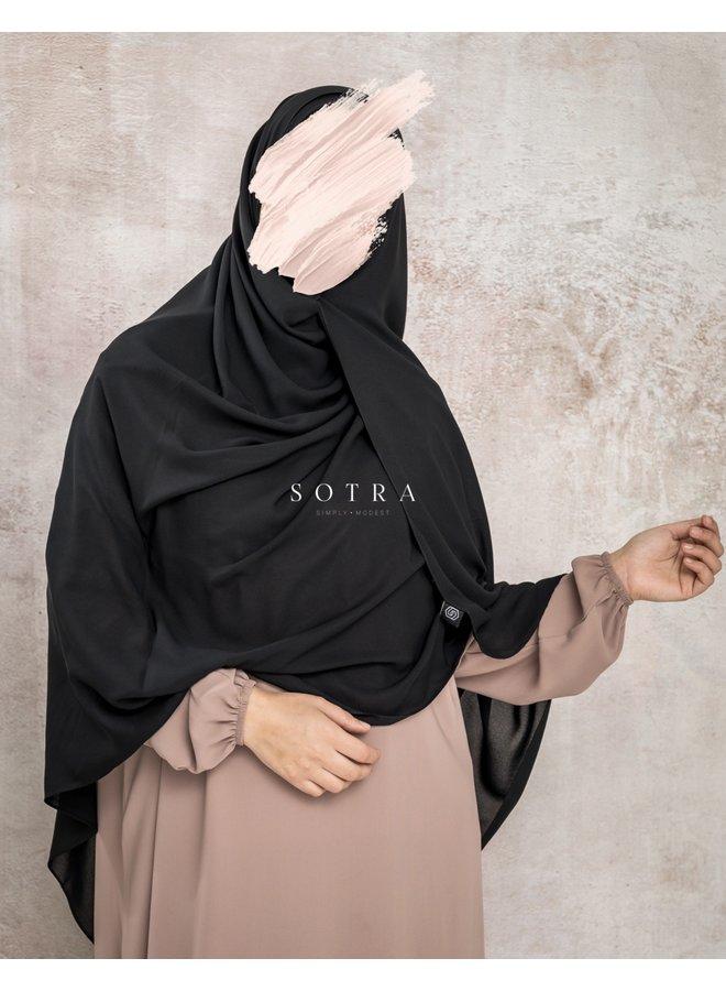 XXL Saudi Sjaal Black