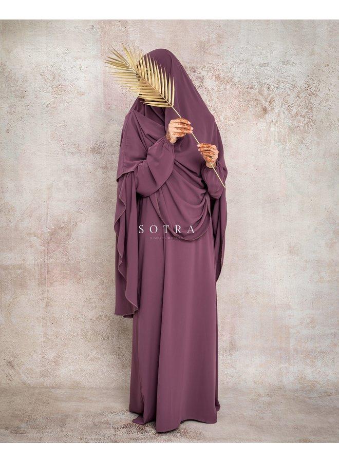 Basic Abaya Dustymauve