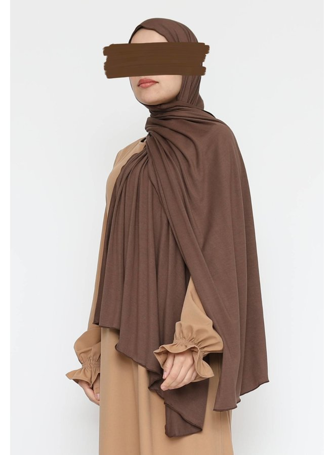 XL Jersey scarf - brown