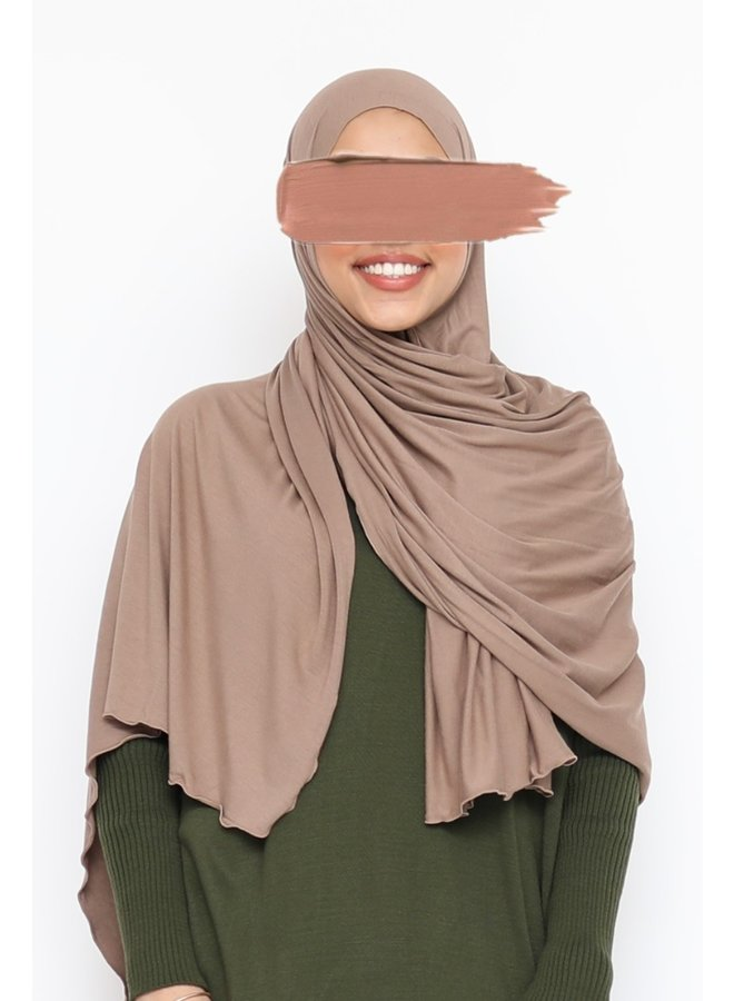 XL Jersey sjaal - taupe