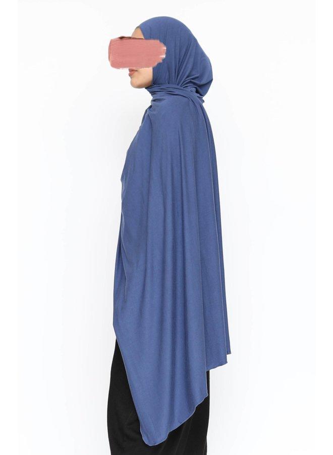 XL Jersey sjaal - royal blue