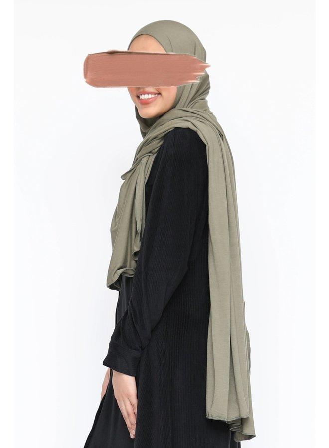 XL Jersey scarf - soft green