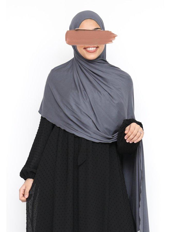 XL Jersey sjaal - grijs