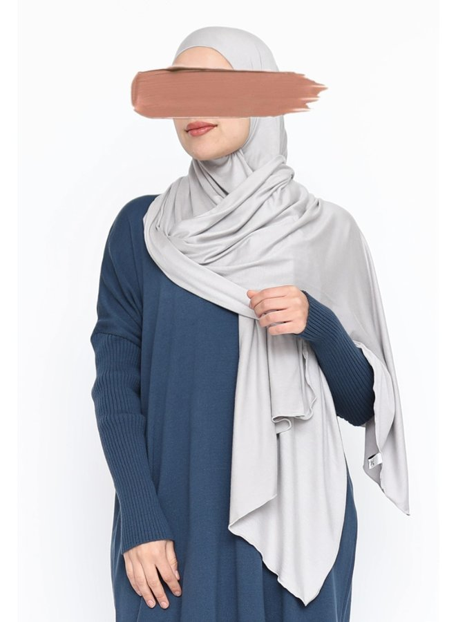 XL Jersey scarf - clay