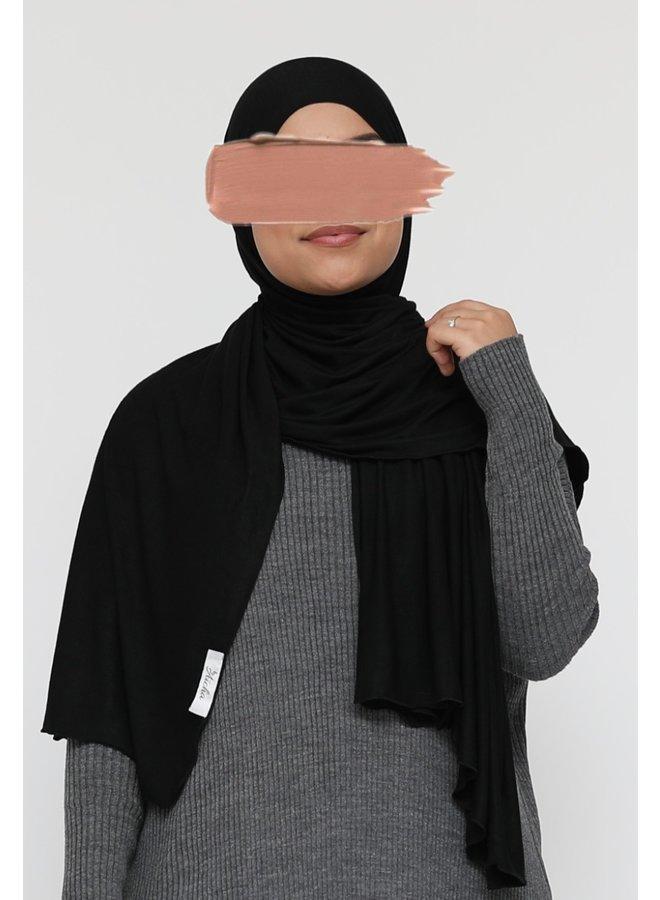 XL Jersey sjaal - zwart