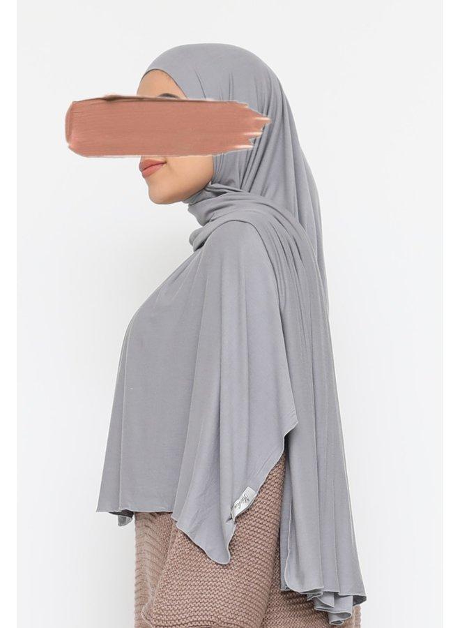 XL Jersey scarf - light grey