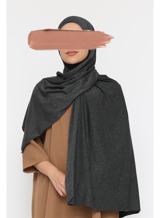 XL Jersey sjaal - donkergrijs