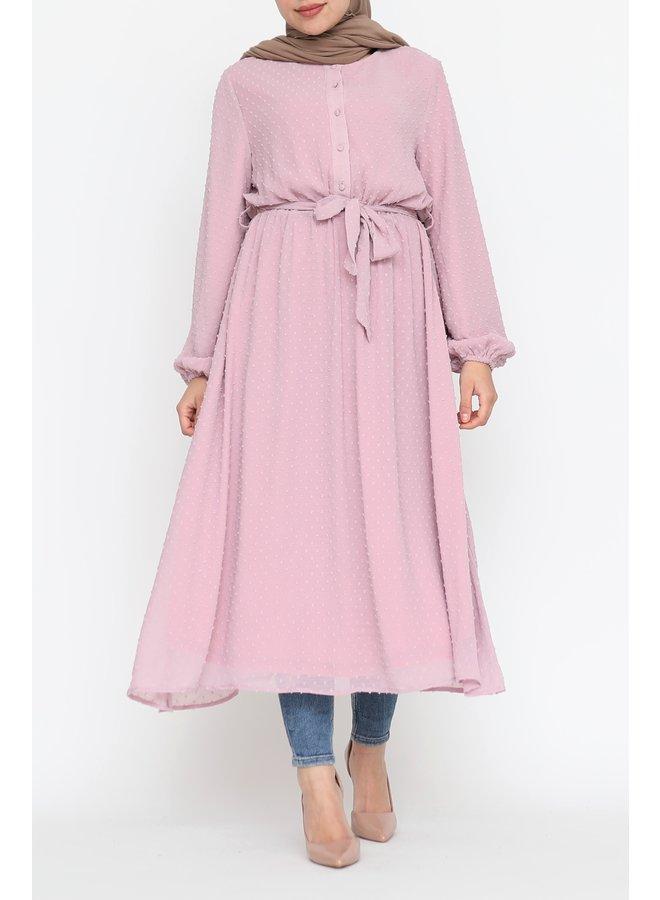 Pompom jurk - roze