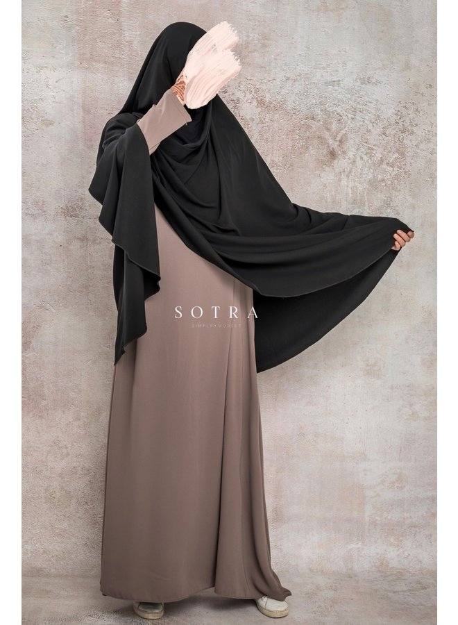 Warm hip khimaar - Black