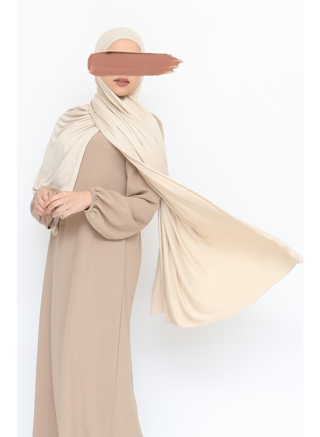 XL Jersey sjaal - zand