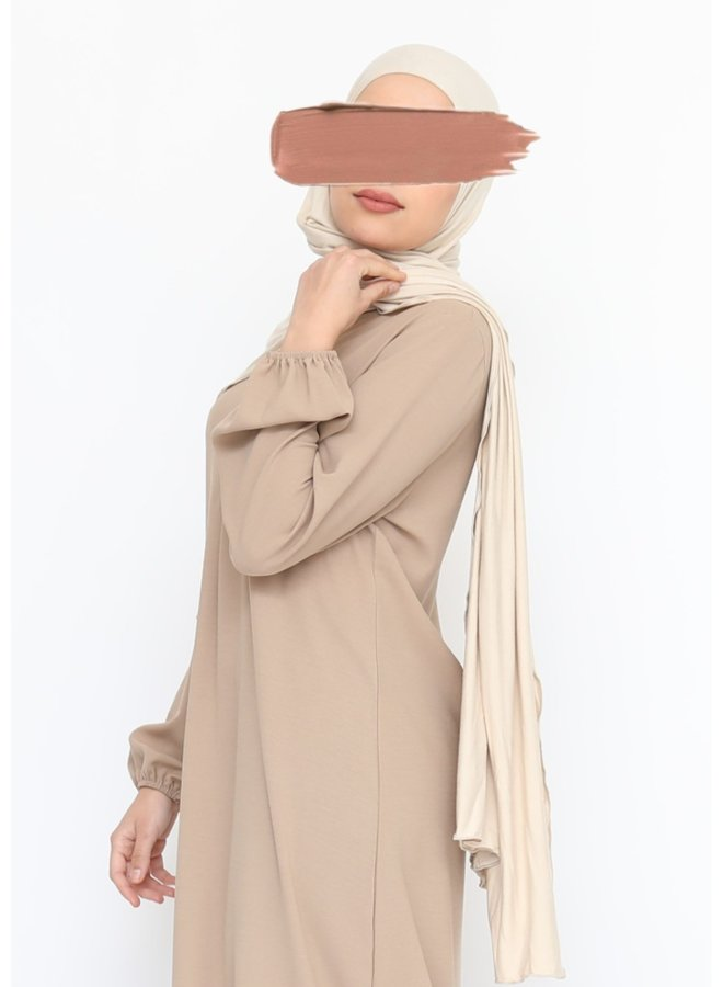 XL Jersey scarf - sand