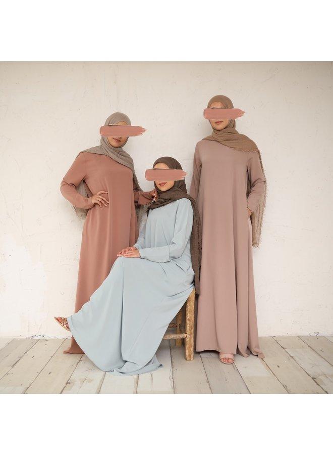 A-line abaya - nude