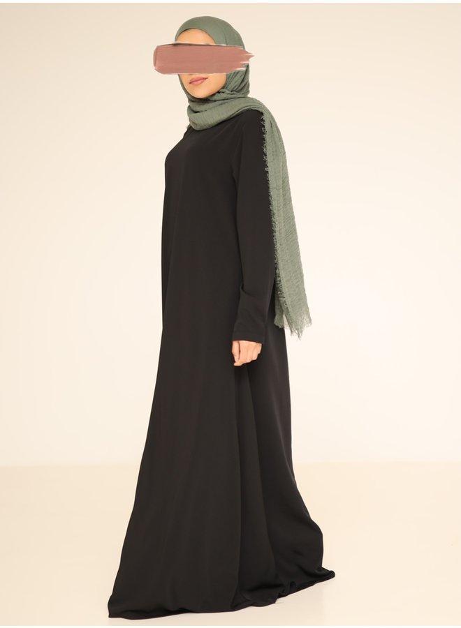 A-line abaya - noir