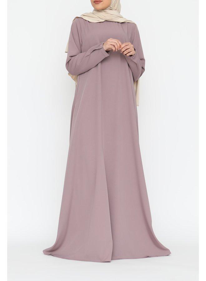 A-line abaya - lila
