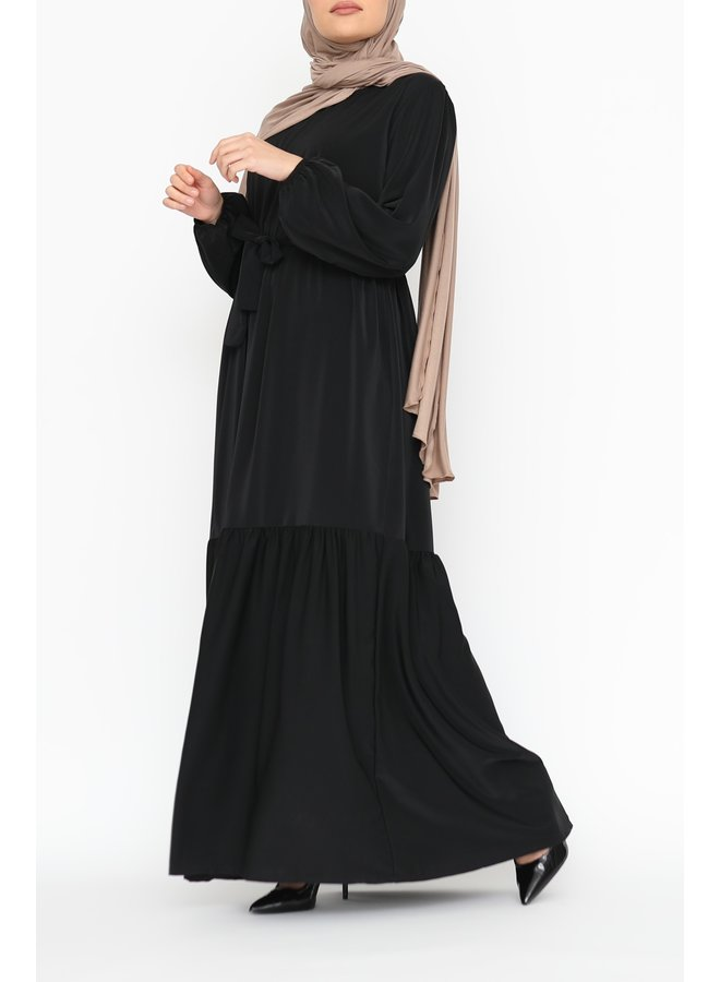Maxidress with layers - noir