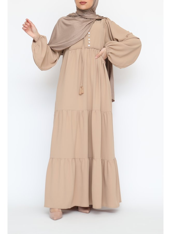Maxidress with buttons - sand