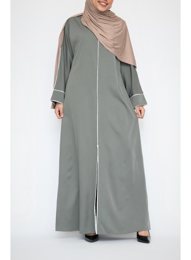 Abaya Diamond - kaki