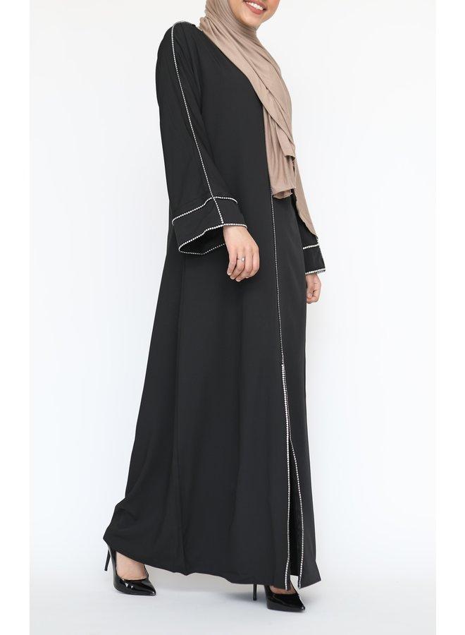 Abaya Diamond - zwart