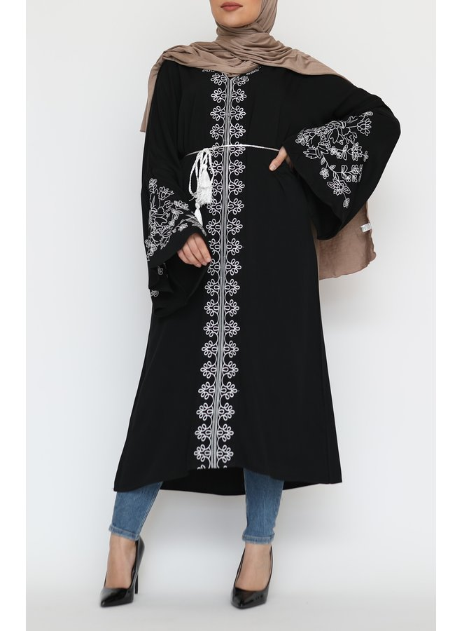 Tunic with embroidery - black