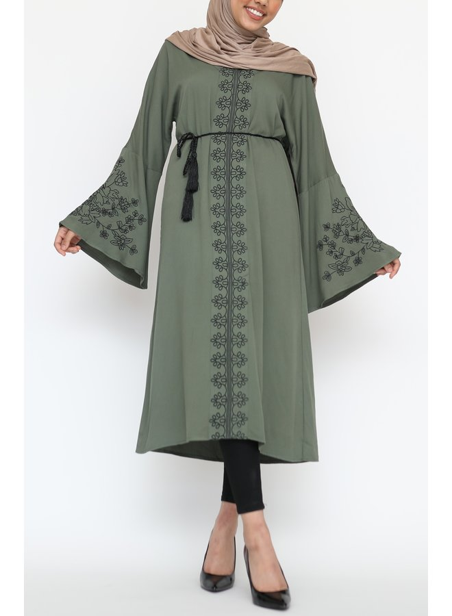 Tunic with embroidery - green