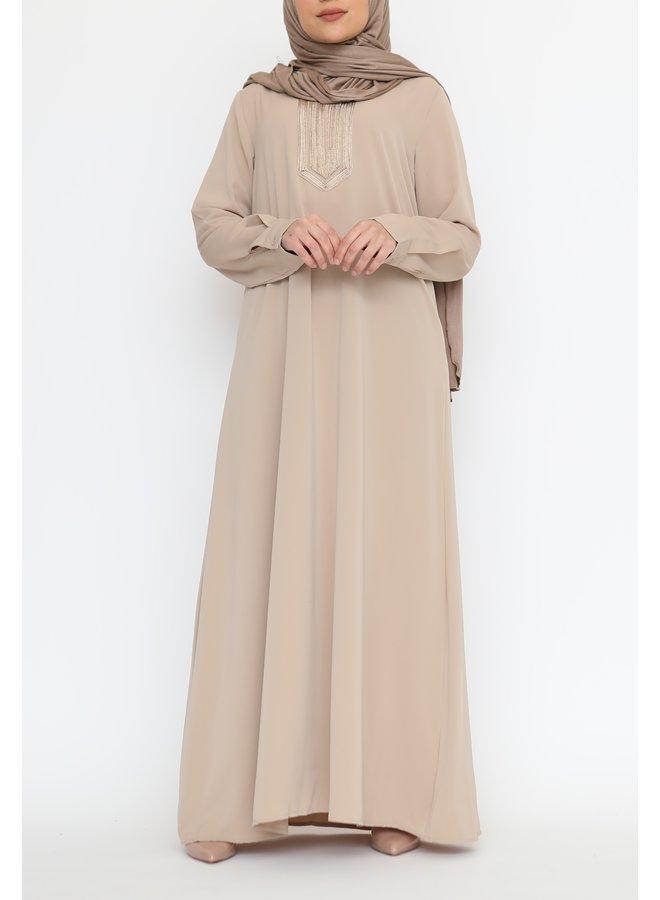 Abaya Ouarda - camel