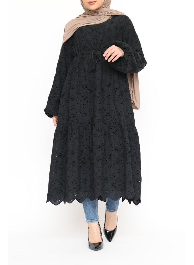 Katoenen tuniek - zwart