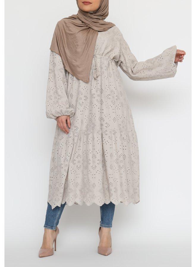 Cotton tunic - beige