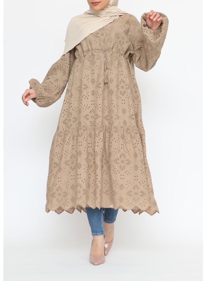 Cotton tunic - camel