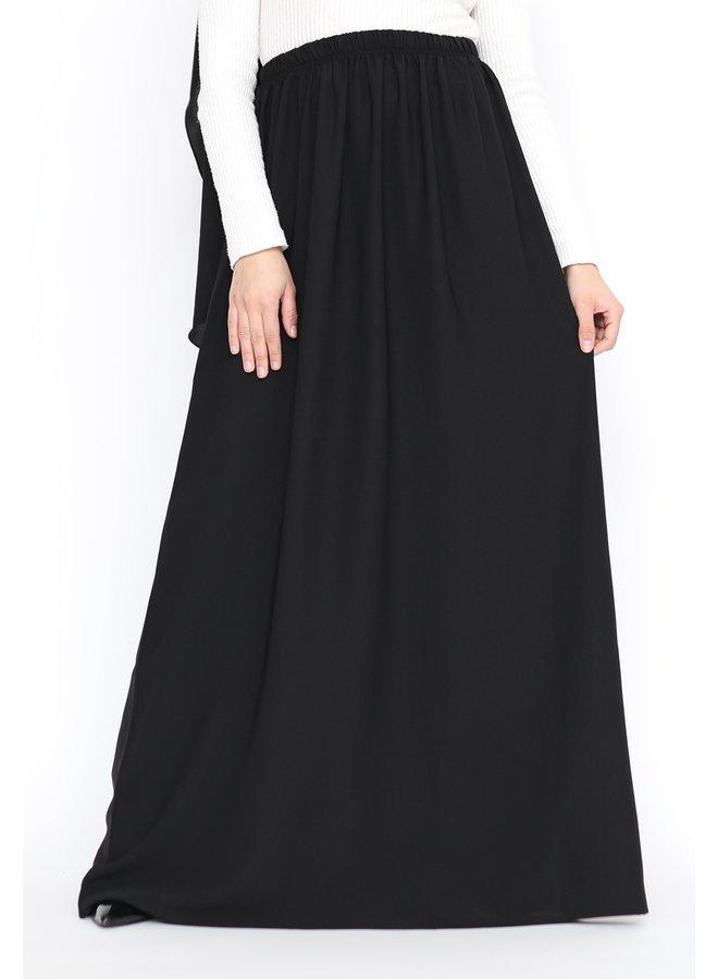 Maxi skirt lightweight - Black
