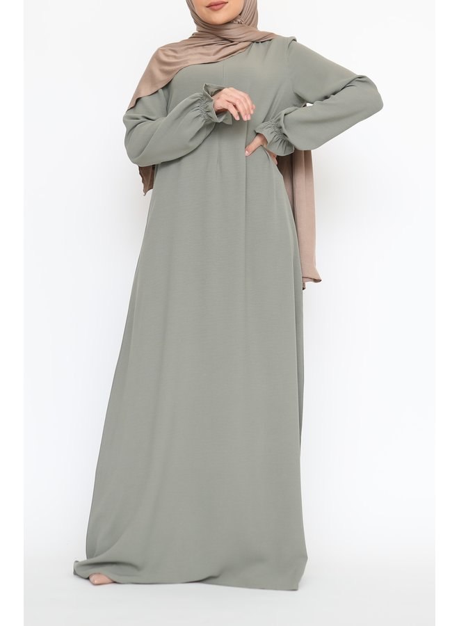 Abaya with cute sleeves (lightweight) - Mint