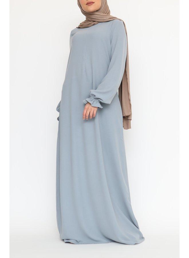 Abaya met pofmouw (lightweight) - Lichtblauw