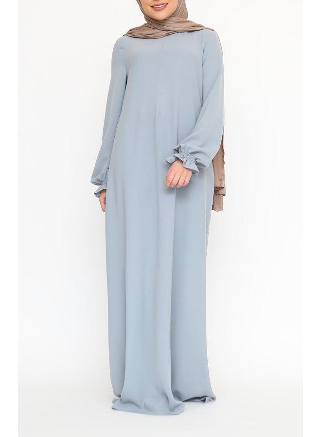 Abaya with cute sleeves (lightweight) - Lightblue