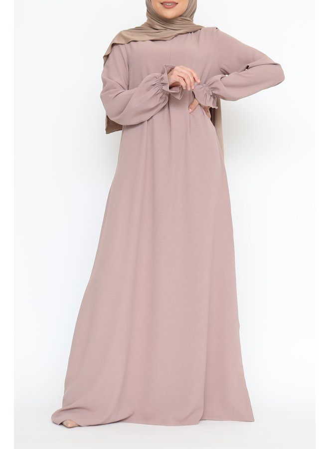 Abaya met pofmouw (lightweight) - Poeder