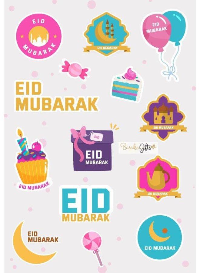 Eid mubarak stickers (girl)