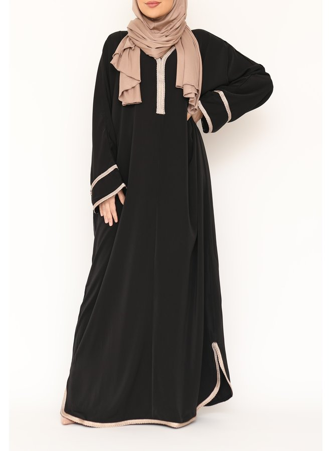 Jellaba Firdaous - black