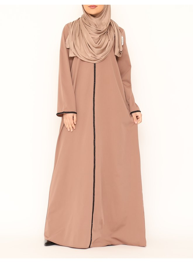 Abaya black line - nude