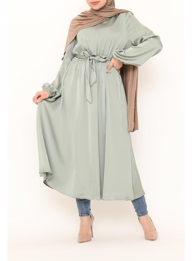 Satijnen jurk - mint