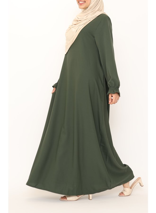 Basic abaya - armygreen