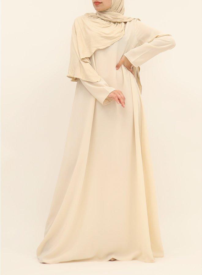 A-lijn abaya met ceintuur - ecru
