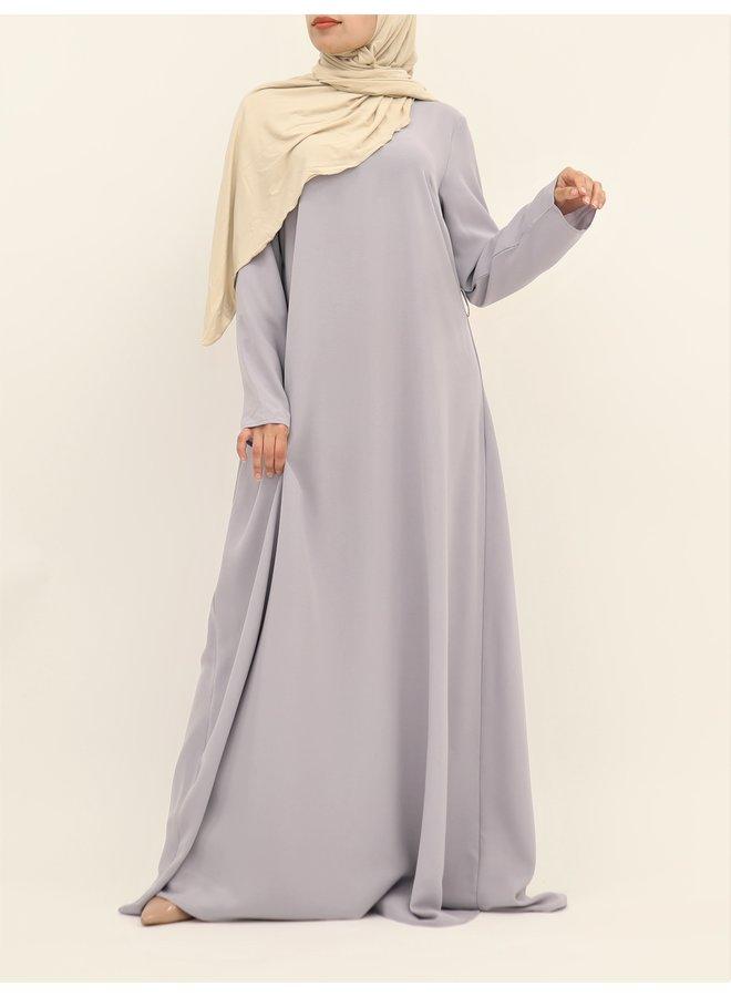 A-lijn abaya met ceintuur - lila