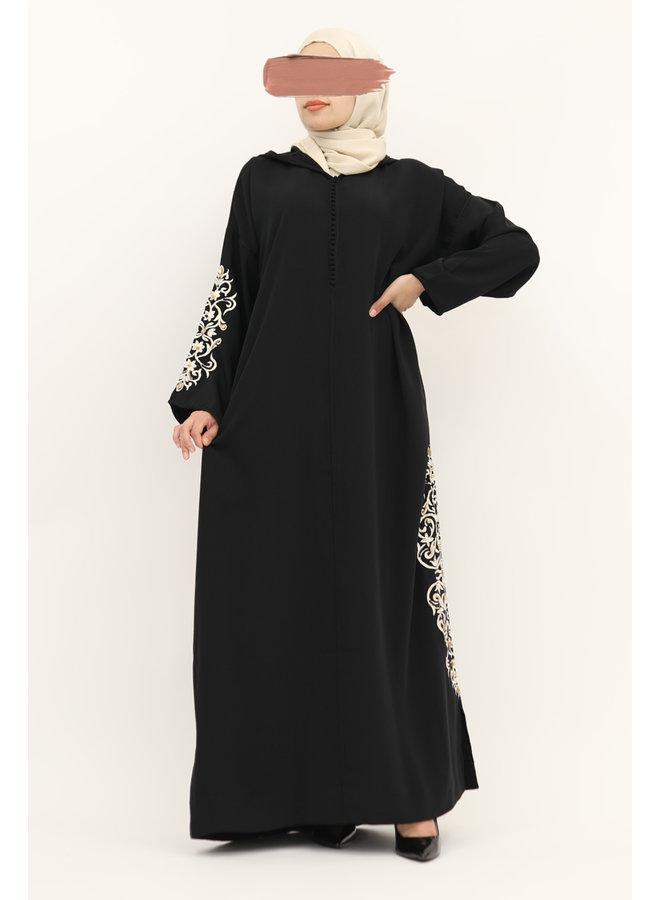 Jelleba with embroidery SB - black
