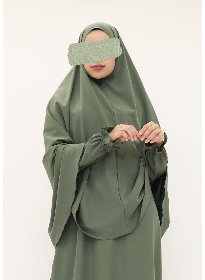 Stretch khimaar (mediumweight) - green