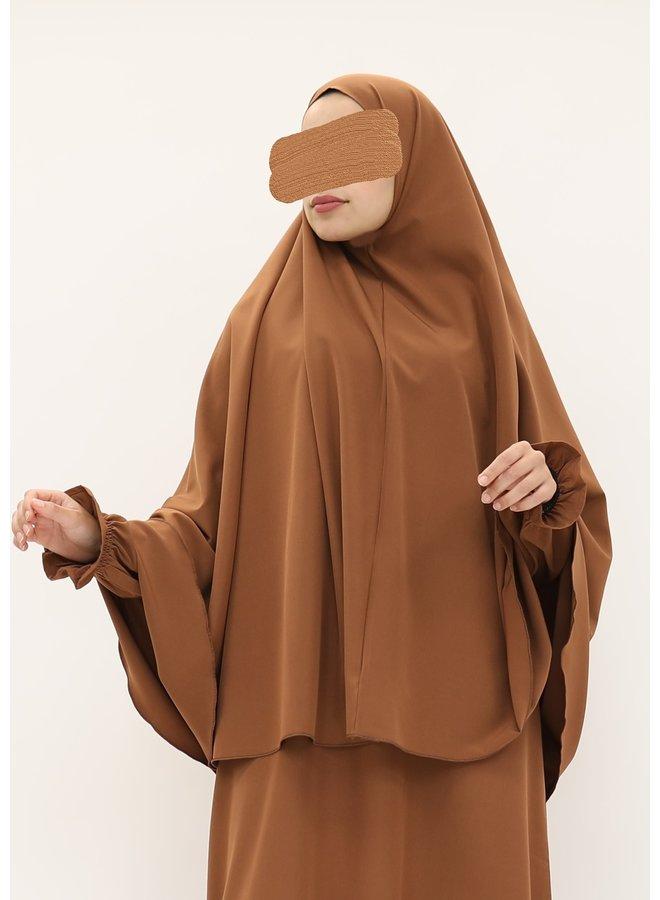 Stretch khimaar (mediumweight) - camel