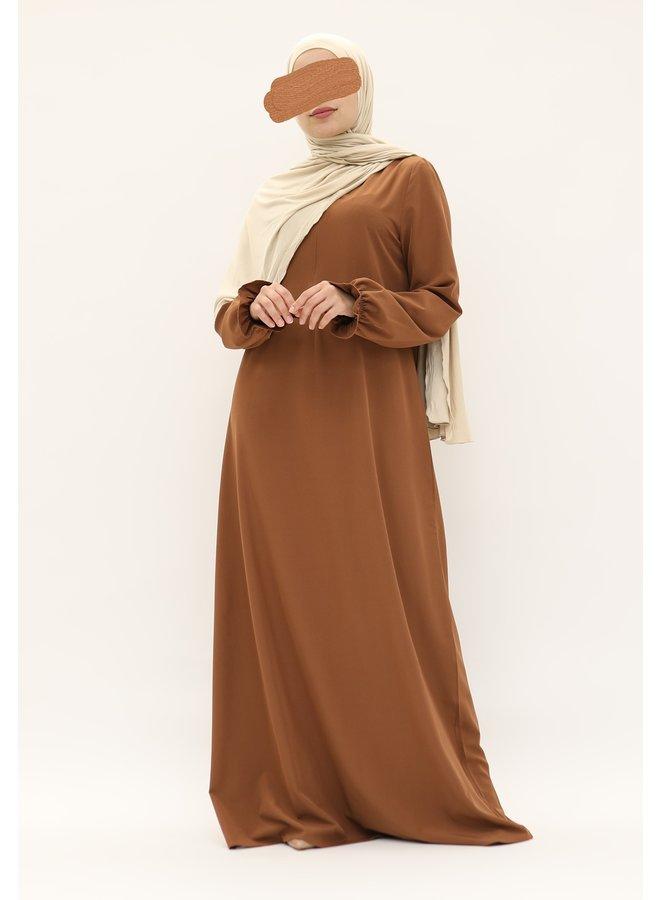 Stretch Abaya met pofmouw - camel