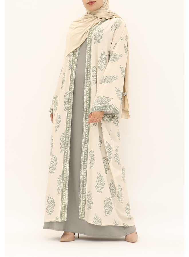 Kimono met print - groen