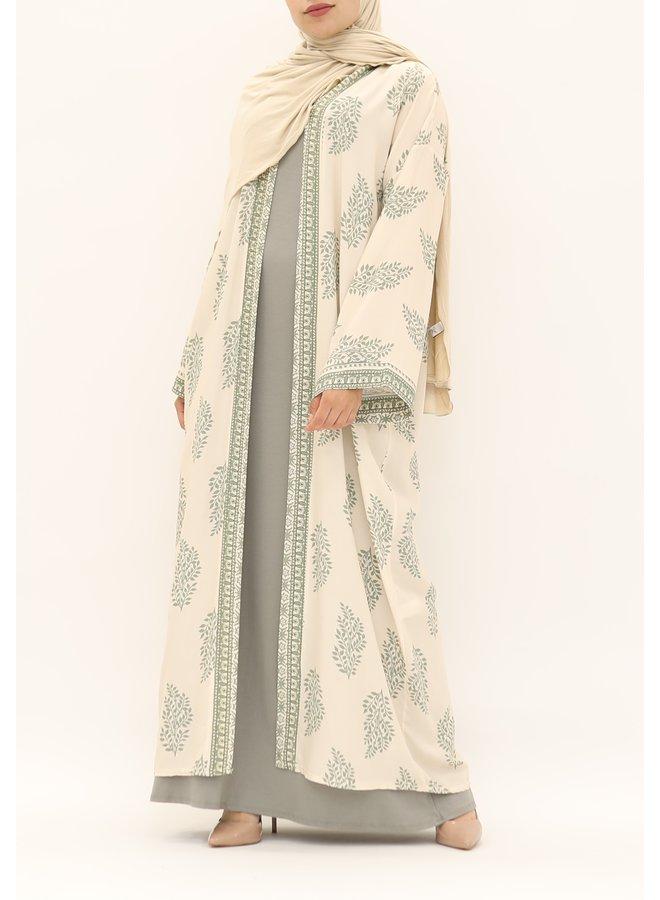 Kimono with print - green